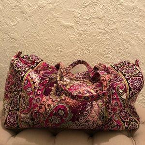 Vera Bradley Very Berry Paisley Travel Duffel Bag